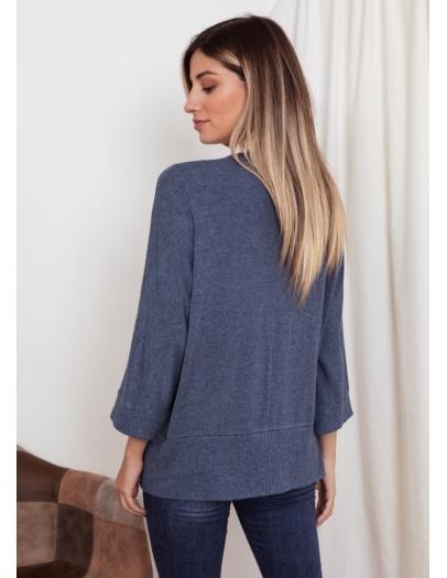 Cárdigan oversize azul