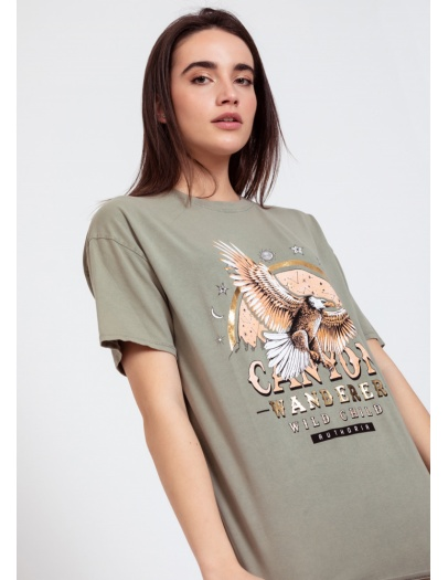 Camiseta canyon verde