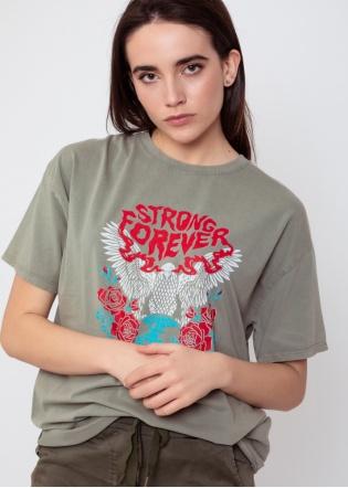 Camiseta Forever verde