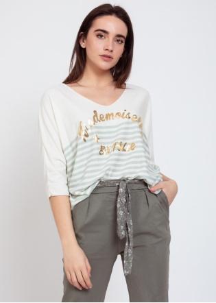Camiseta punto mademoiselle