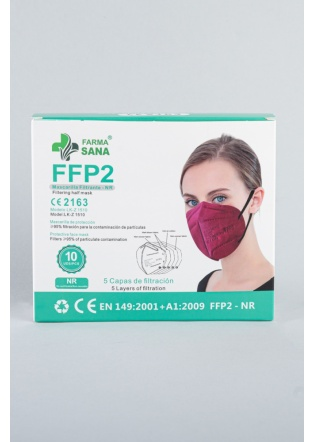 Mascarilla FFP2 burdeos