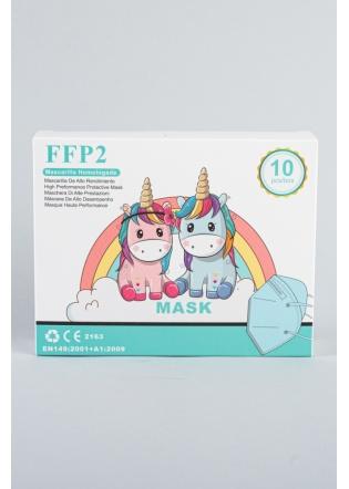 Mascarilla FFP2 infantil azul          2 - 8  años