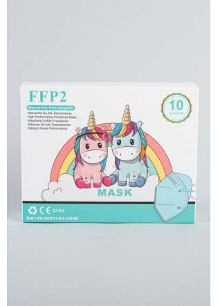 Mascarilla FFP2 infantil azul          4-10 años