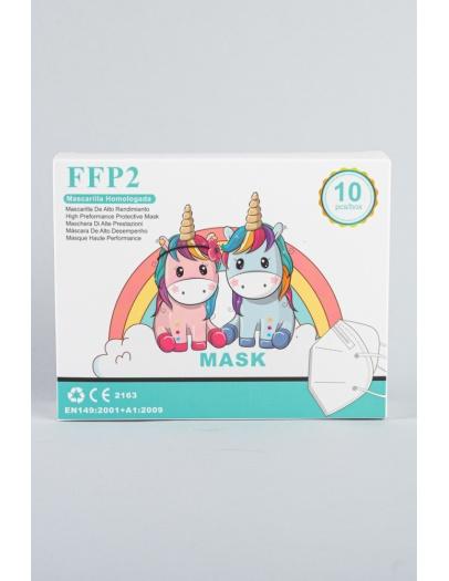 Mascarilla FFP2 infantil blanca         4-10 años