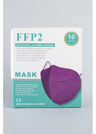 Mascarilla FFP2 malva