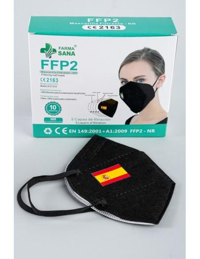 Mascarilla FFP2 negra bandera