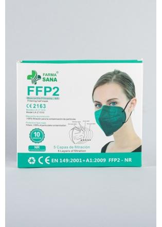 Mascarilla FFP2 verde Botella