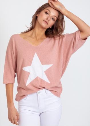 Jersey estrella rosa