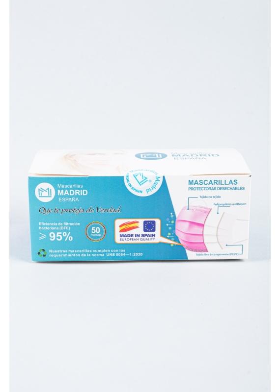 mascarilla-higienica-desechable-rosa-caja-50-uni