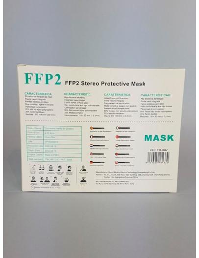 Mascarilla FFP2 infantil  negra        2-8 años