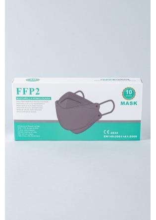 Mascarilla FFP2 3D 8862 gris caja 10 uni