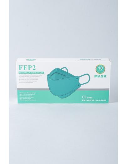 Mascarilla FFP2 3D 8862 verde caja 10 uni