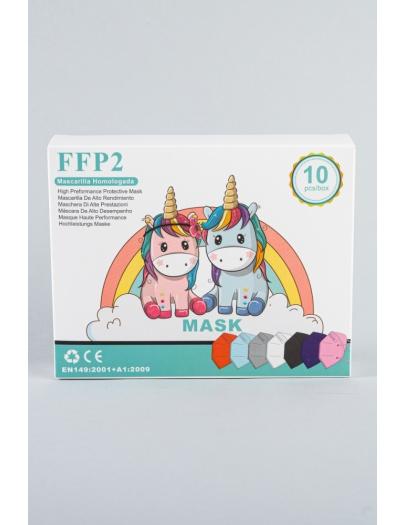 Mascarilla FFP2 Infantil variada 4-10 años