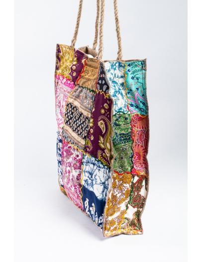 Bolso saco patchwork