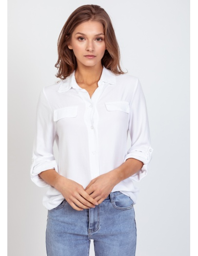 Camisa Cloe blanca tapetas