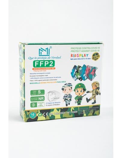 Mascarilla FFP2  MM infantil camuflaje  3 a 10 años