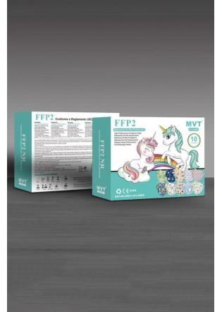 Mascarilla FFP2 NR niño estampada  8 - 12 años