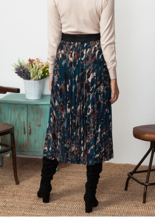 falda-plisada-estampada