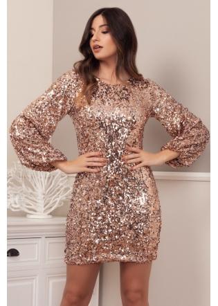 vestido-fiesta-lentejuelas-oro