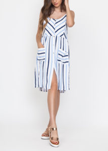 Vestido corto de rayas La tienda de Cloe